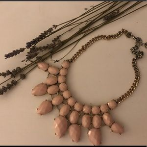 H&M pastel pink statement necklace